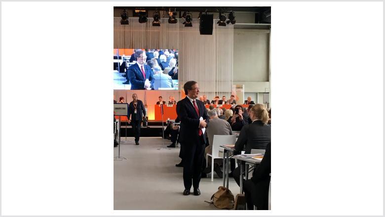 Armin Laschet bei seiner umjubelten Rede vor den Delegierten  der Landesvertreterversammlung